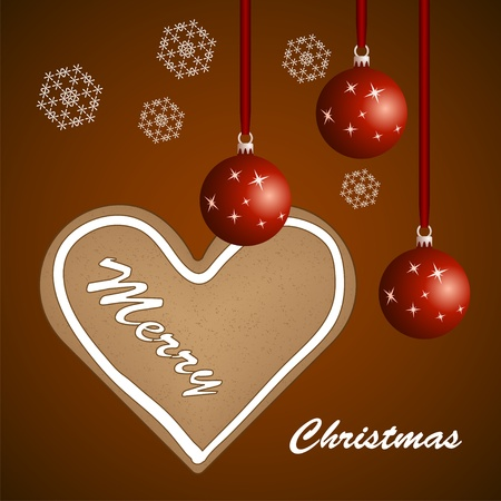 spice cake: vector christmas background