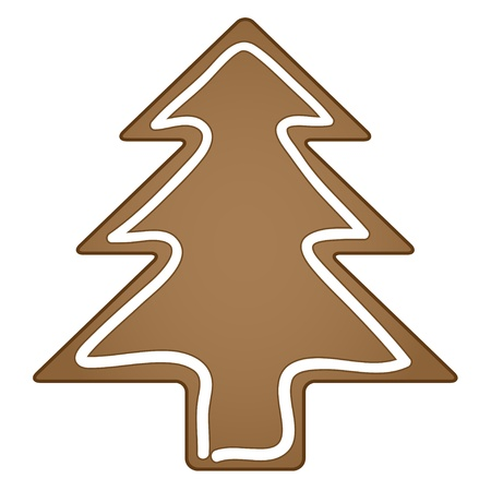 spice cake: vector gingerbread christmas tree Illustration