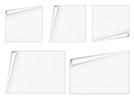 vector blank white sheets Stock Vector - 11504807