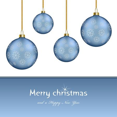 chainlet: vector christmas balls