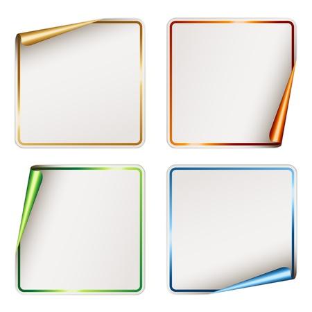 etiquetas redondas: vectoriales festivos pegatinas en blanco