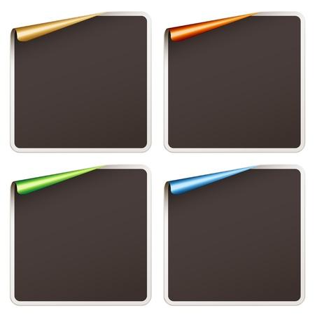 vector blank festive stickers Vector