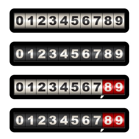 digital number: vector counters Illustration