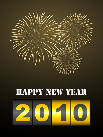 vector fireworks with new year counter Vector