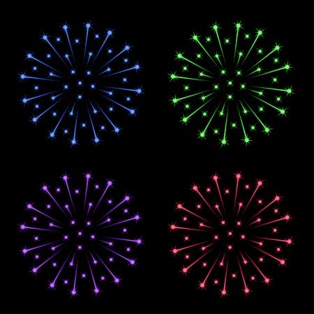 vector fireworks Stock Vector - 11505023