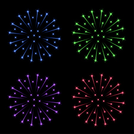 vector fireworks Stock Vector - 11505023