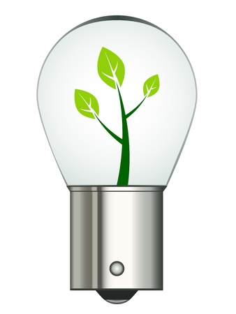 chrome base: vector bayonet car eco bulb Illustration