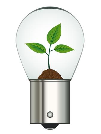 metal light bulb icon: vector bayonet car eco bulb Illustration