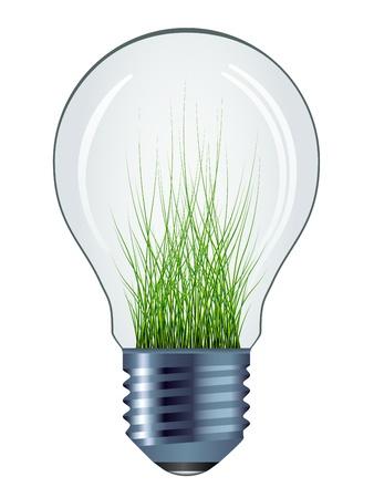 metal light bulb icon: vector eco bulb isolated