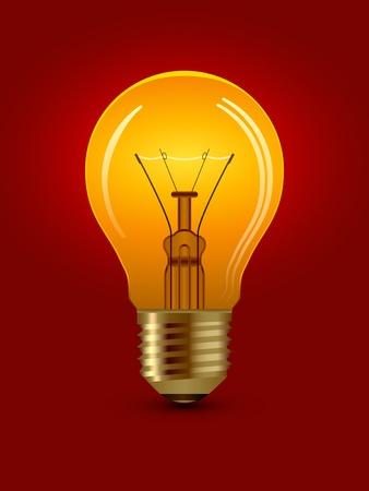 vector shining bulb Vector