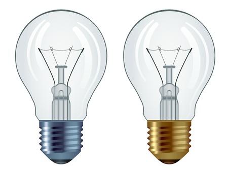 bulb: Vektor Gl�hbirnen isoliert