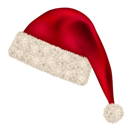 santa costume: vector christmas hat