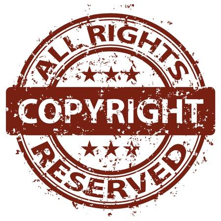 vector beschadigde copyright stempel