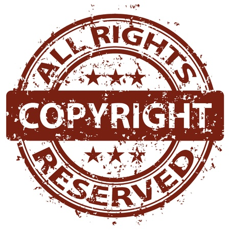 vector damaged copyright stamp Vector