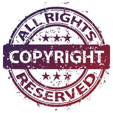 vector sello dañado los derechos de autor