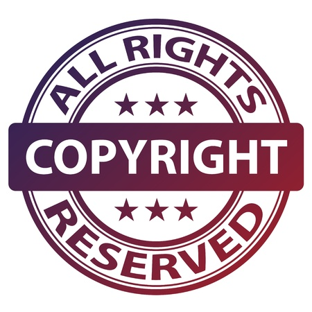 autorizacion: vector sello de autor puro