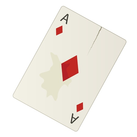 entertainment risk: vector damaged ace Illustration
