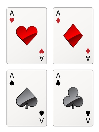 cards deck: vector aces isolated