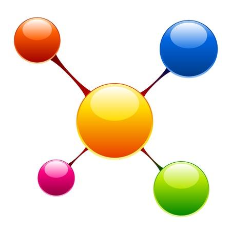 atom symbol: vector molecule Illustration