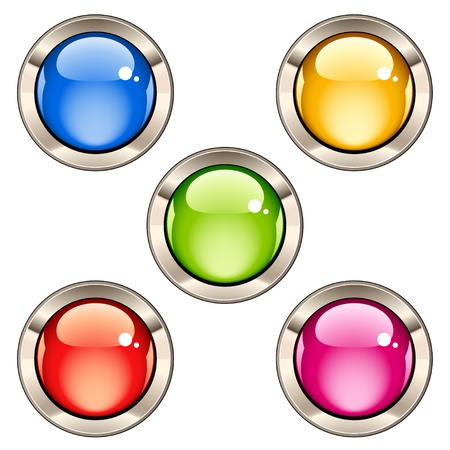 Vector glossy buttons Stock Vector - 11504769
