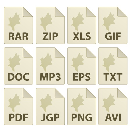 vector aged document icons Stock Vector - 11504233