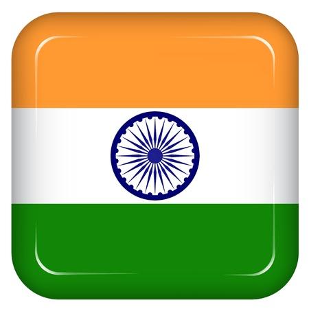 drapeau inde: Vecteur inde drapeau