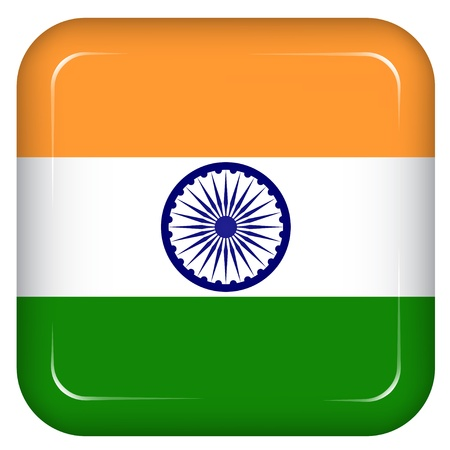 india green: Vector india flag