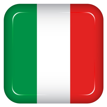 rounded square: Vector italy flag Illustration