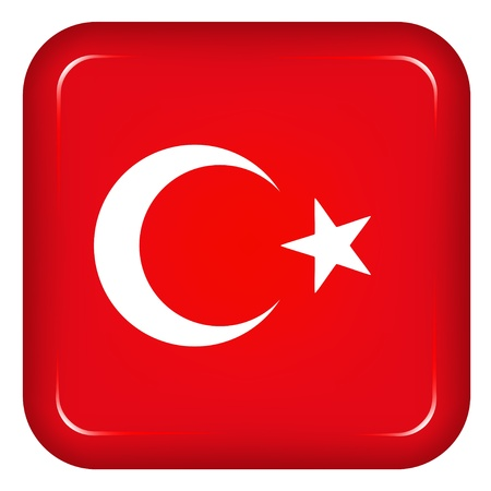 square image: Vector turkey flag Illustration
