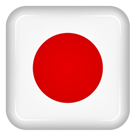 rounded square: Vector japan flag