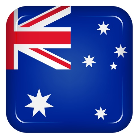 rounded square: Vector australia flag