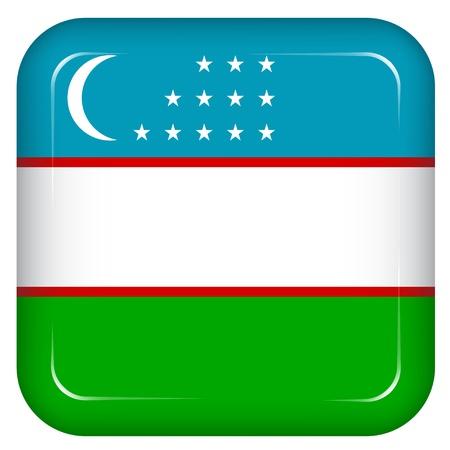 oezbekistan: Vector Oezbekistan vlag
