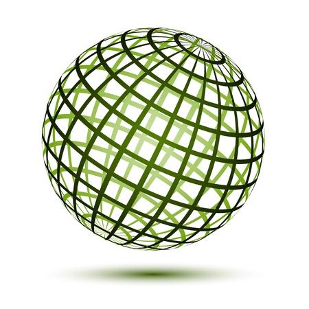 wireframe globe: vector globe