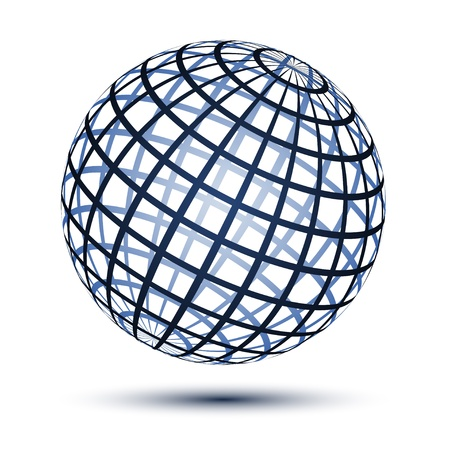 sphere icon: vector globe