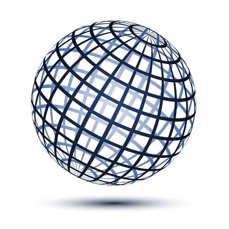 globo terraqueo: vector mundo Vectores
