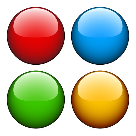 red sphere: Vector glossy buttons