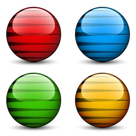 vector glazen bollen