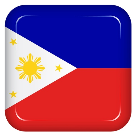 philippines: Vector philippines flag