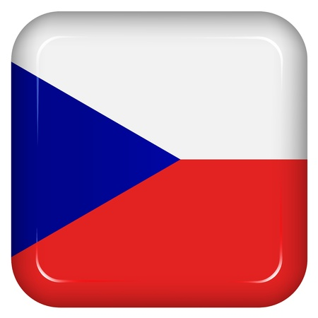 flag button: Vector czech republic flag