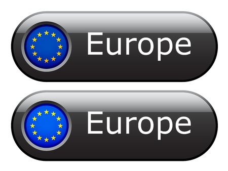 eu: Vector EU flag buttons