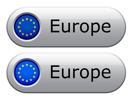 Vector EU flag buttons Vector