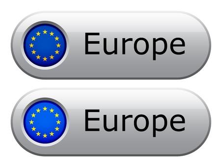 eu: Vector EU flag buttons