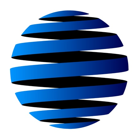 symbolics: vector abstract globe