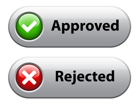 rejected: vector check mark buttons