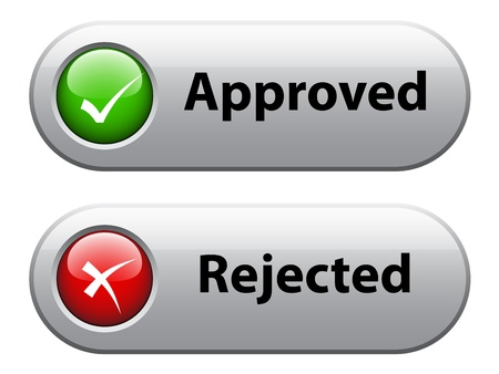 approved: vector check mark buttons