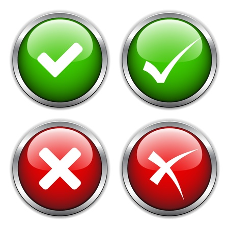 vector check mark buttons Stock Vector - 11520301