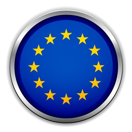 european union: Vector EU flag