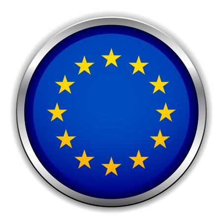 evropský: Vlajka Vector EU Ilustrace