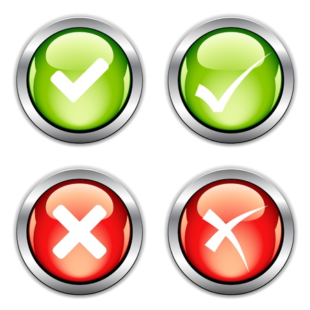 proceed: vector check mark buttons