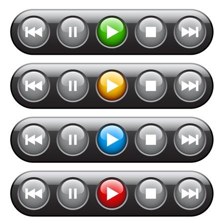 panel de control: vector de jugador del panel